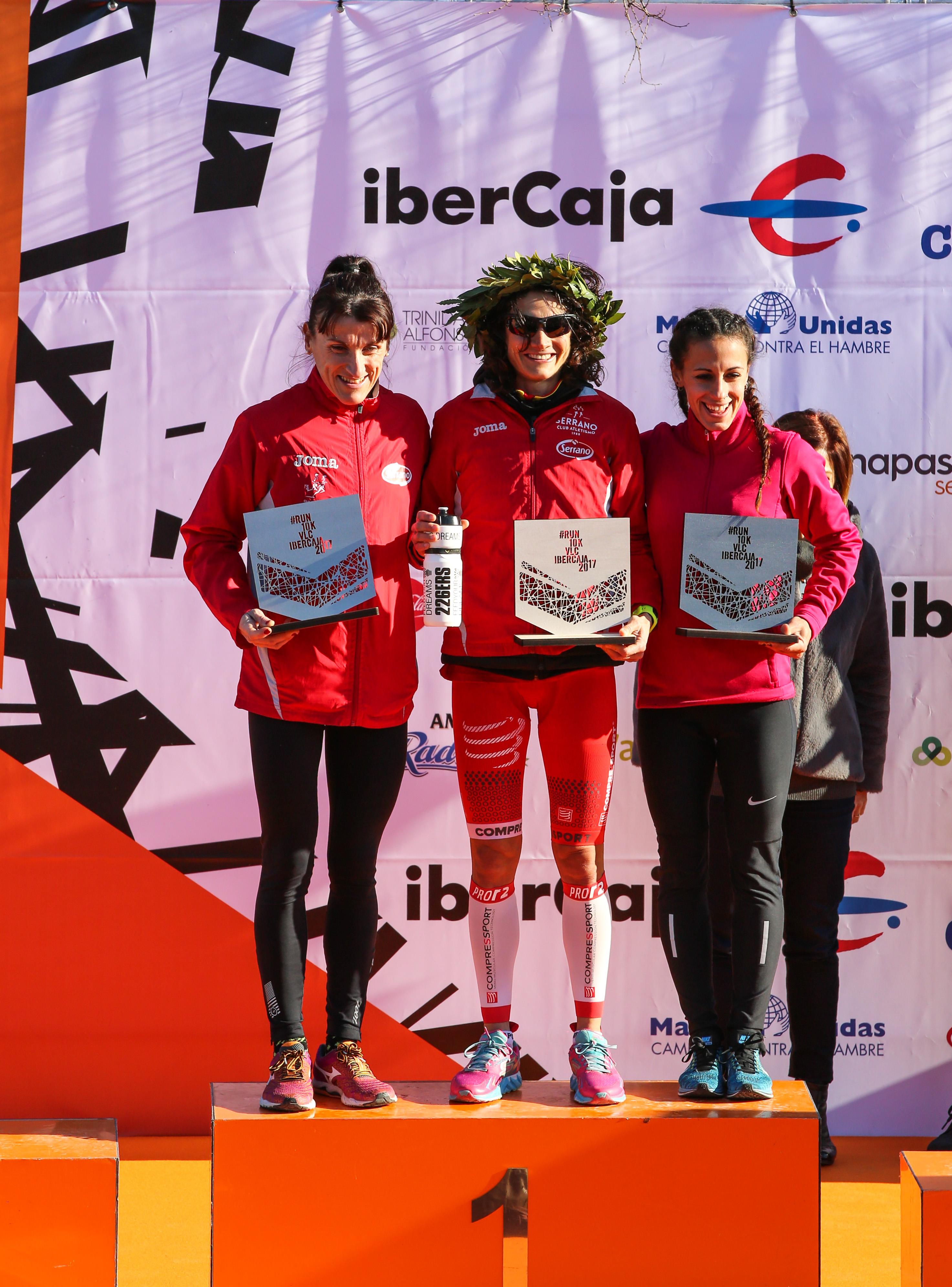 Podium femenino 10K Valencia 2017