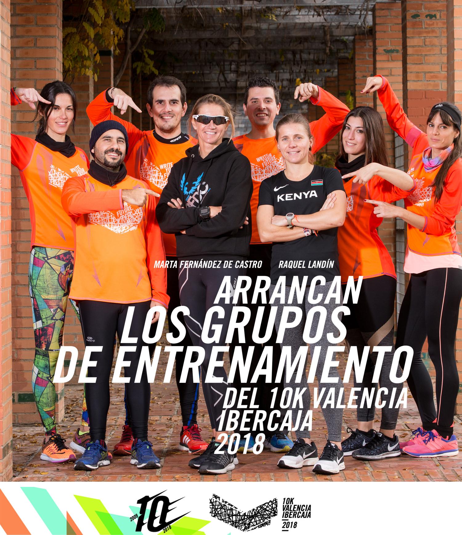 Grupos entrenamiento 10K Valencia