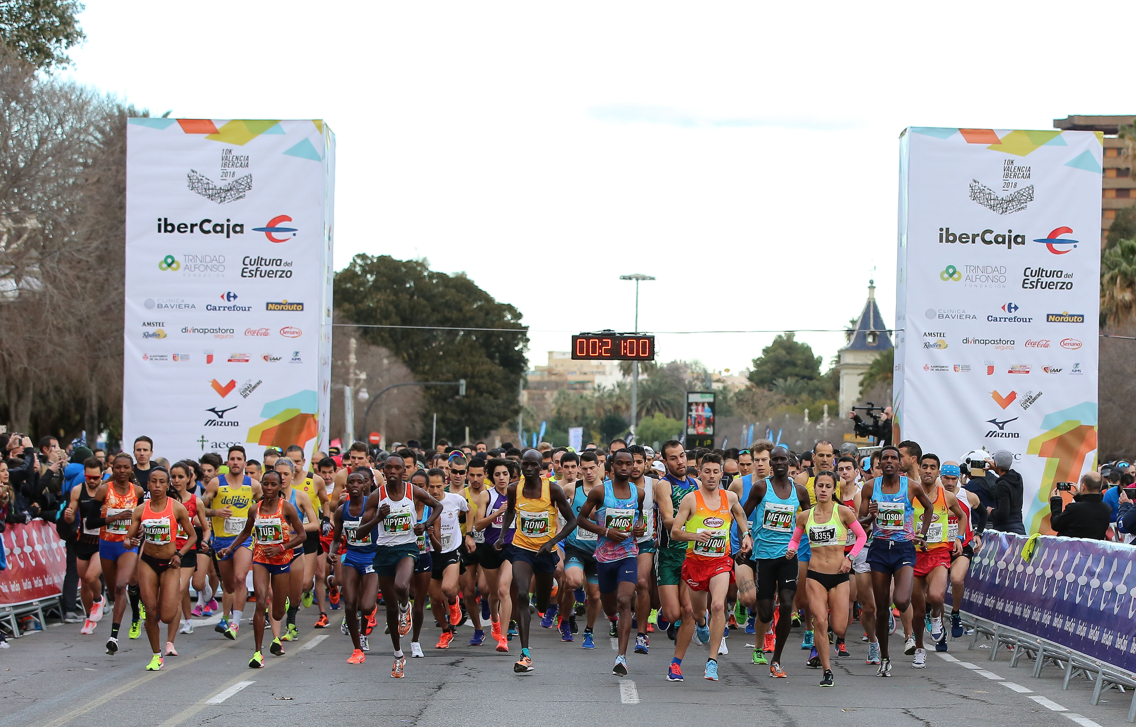 Salida 10K Valencia Ibercaja 2018